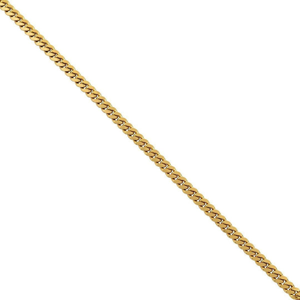 18K Yellow Gold Mens Cuban Chain 5 mm
