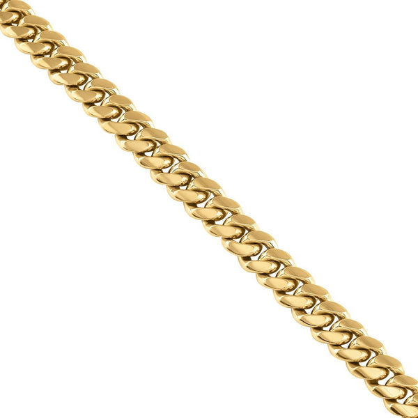 18k Yellow Gold Miami Cuban Link Chain 11 mm