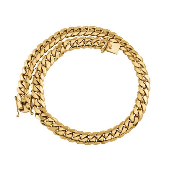 18k Yellow Gold Miami Cuban Link Chain 15.5 mm