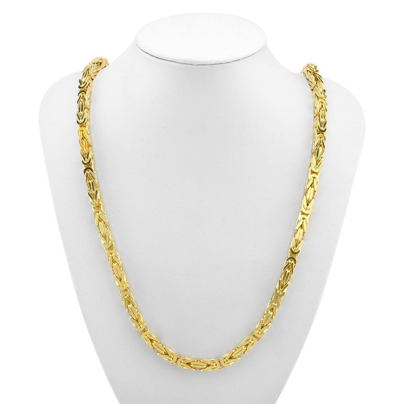 Byzantine Chain in 14k Yellow Gold 6 mm