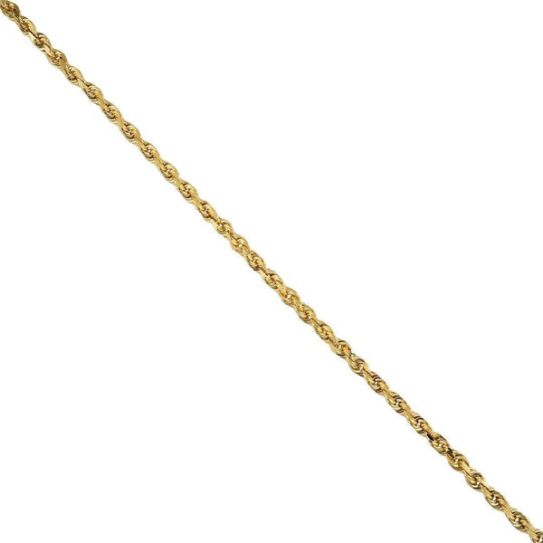 Rope Chain in 14k Yellow Gold 3 mm
