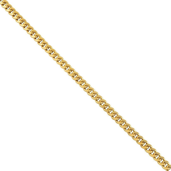 Yellow 10k Gold Cuban Link Chain 6 mm