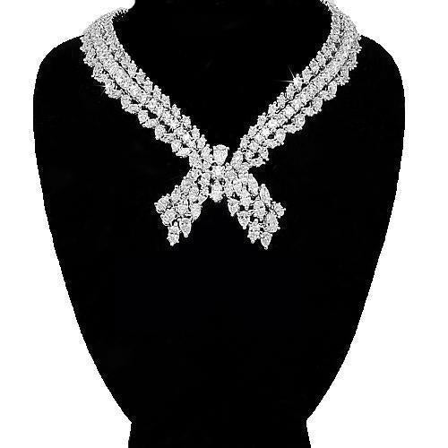 Platinum(Non-Gold) Platinum Womens Diamond Necklace 40.00 Ctw