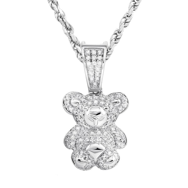 10K Yellow Gold Diamond Panda Pendant 0.50 Ctw