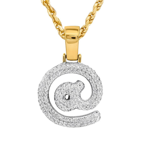 10K Yellow Gold Diamond @ Pendant 0.57 Ctw