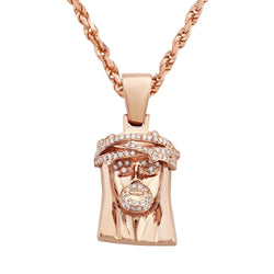 Rose 14k Rose Gold Diamond Jesus Piece 0.75ctw
