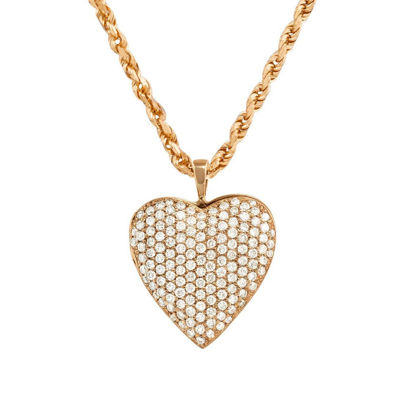 14k Rose Gold Heart Pendant 1.19 Ctw