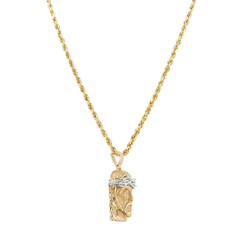 Precious Stars Jewelry 14k Two-Tone Gold Angel Pendant