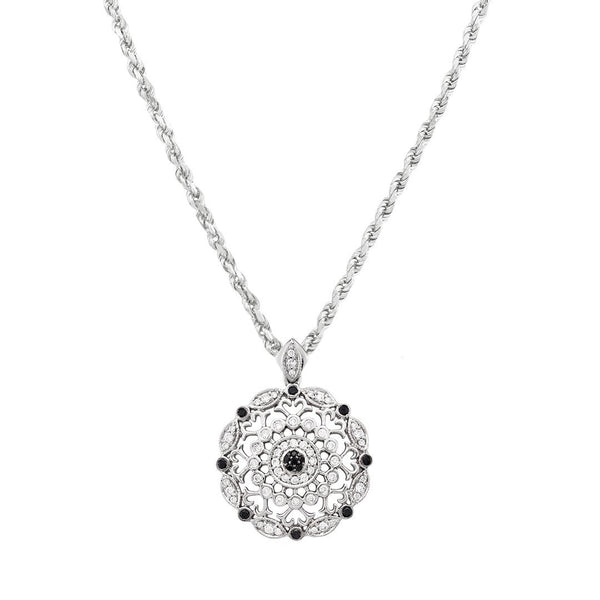White 14K White Gold Diamond Pendant 0.61ctw