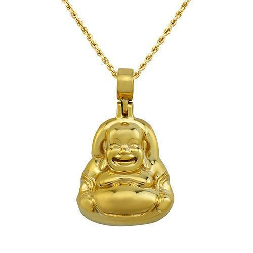 14k Yellow Gold Buddha Pendant