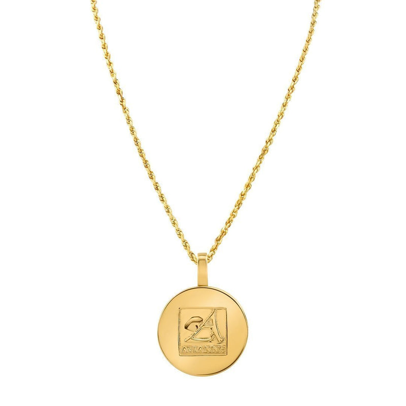 Yellow 14K Yellow Gold Rest In Peace Memory Frame Pendant