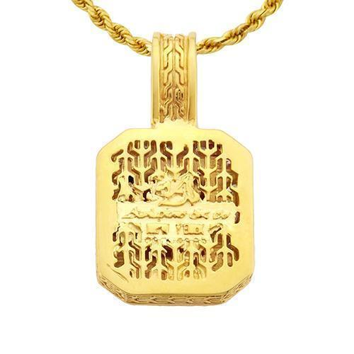 14k Yellow Gold Royal Collection Diamond Pendant Pave 3 ctw