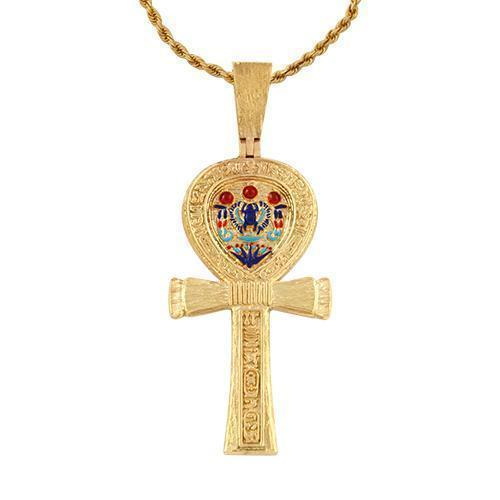 Yellow Ankh Pendant in 14k Yellow Gold