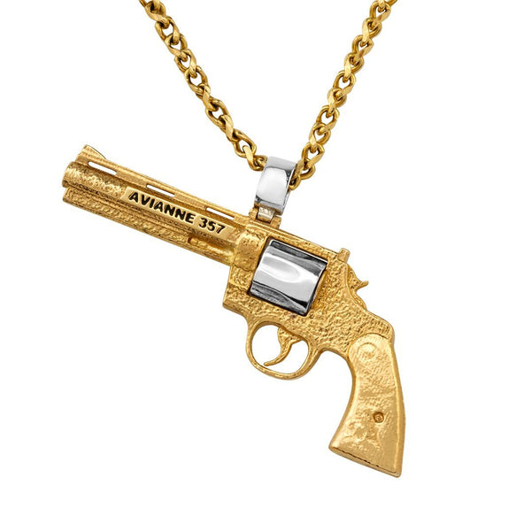 Yellow Avianne Revolver Pendant in 14k Yellow Gold