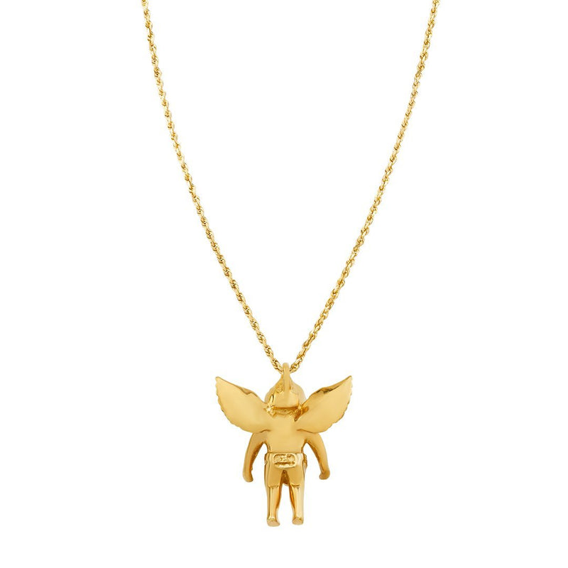 Diamond Angel Pendant in 18k Yellow Gold 0.90 Ctw
