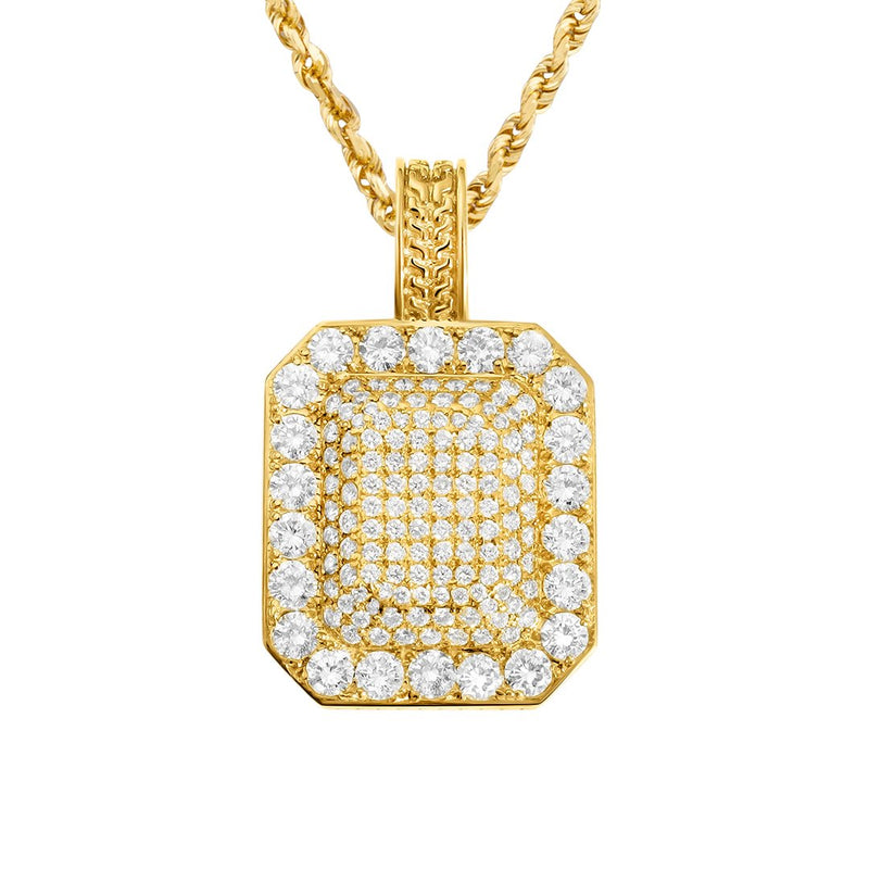 yellow Diamond Classic Pendant in 14k Yellow Gold 3.5 Ctw