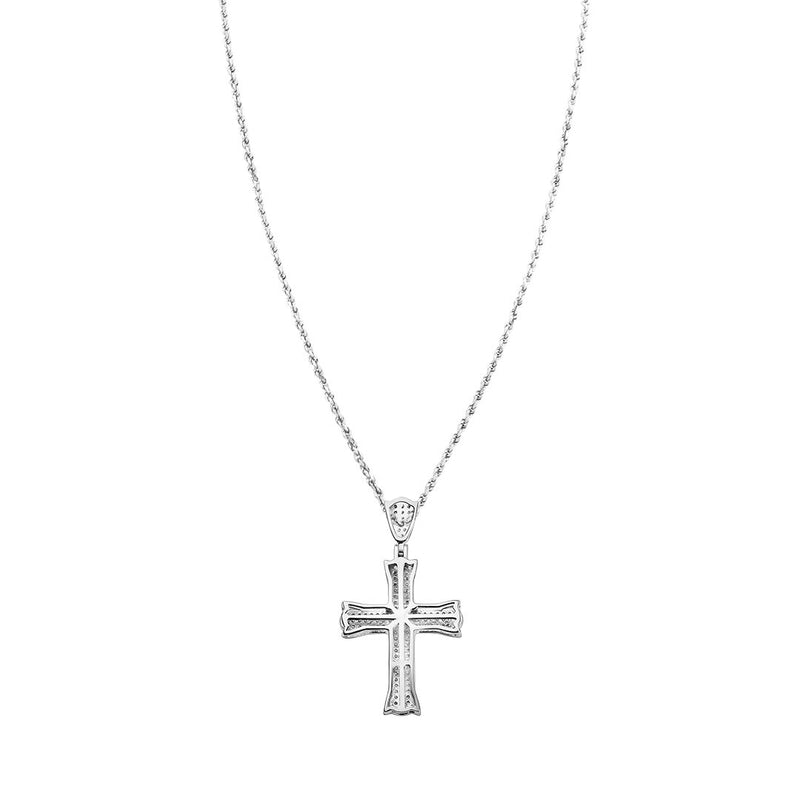 White Diamond Cross in 10k White Gold 2 Ctw