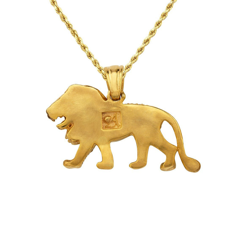 "Diamond Custom ""Lion"" Pendant in 14k Yellow Gold 3.50 Ctw"