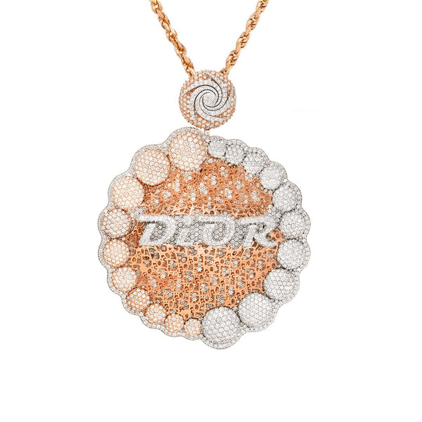 Diamond Dior Pendant in 14k Two Tone 33.15 Ctw