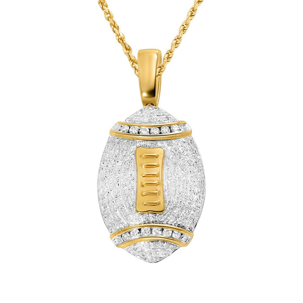 Yellow Diamond Football Pendant in 14k Yellow Gold 1.89 Ctw