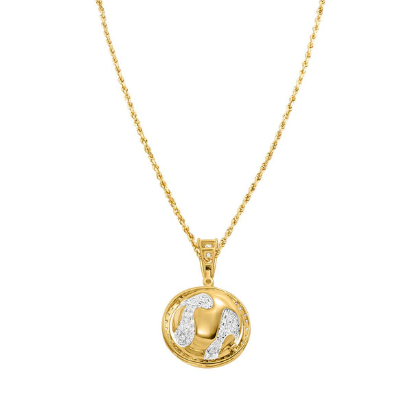 Yellow Diamond Globe Pendant in 14k Yellow Gold 1.14 Ctw