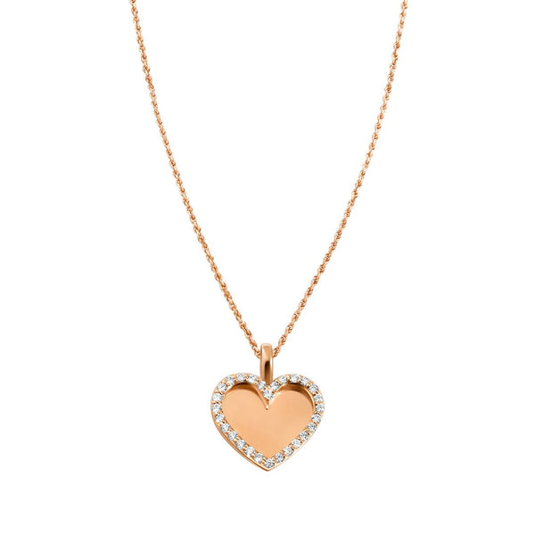 Yellow Diamond Heart Memory Pendant in 14k Yellow Gold 0.66 Ctw