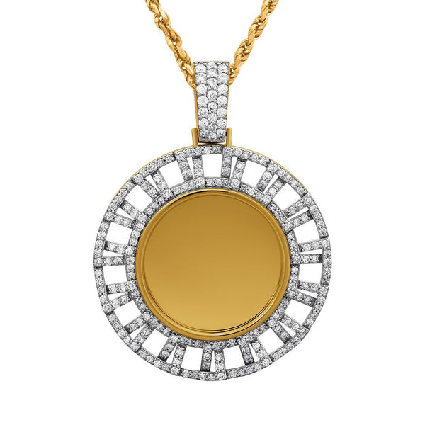 Yellow Diamond Memory Pendant in 14k Yellow Gold 2.15 Ctw