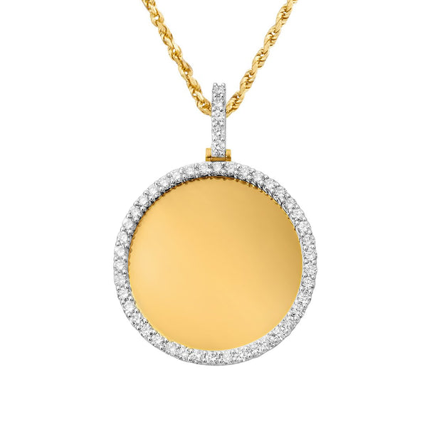 Yellow Diamond Round Memory Pendant in 10k Yellow Gold 3.33 Ctw