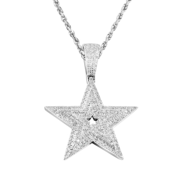 Diamond Star in 10k Gold .4 Ctw