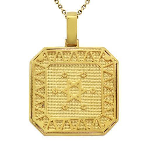 Diamond Star of David Pendant 14k Yellow Gold 3 Ctw