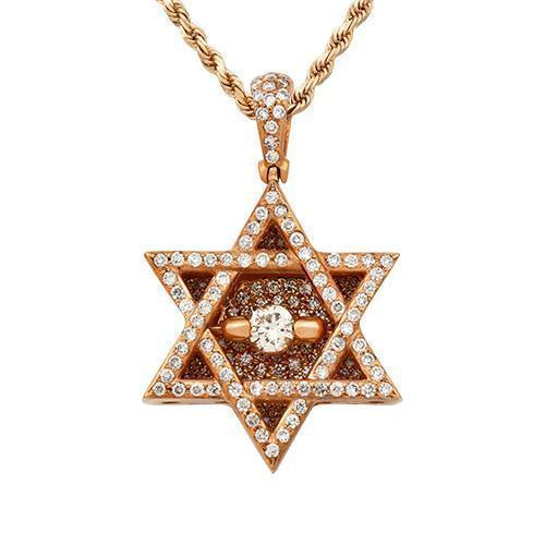 Diamond Star of David Pendant in 14k Yellow Gold 1.50 Ctw