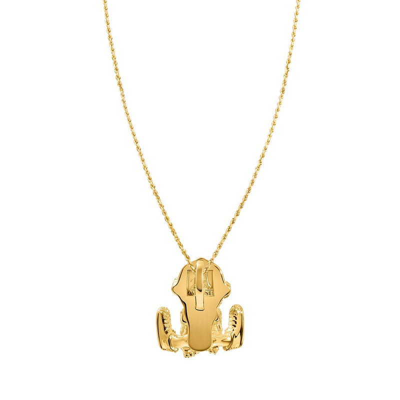 Yellow Diamond Zombie Baby Pendant in 14k Yellow Gold 1.5 Ctw