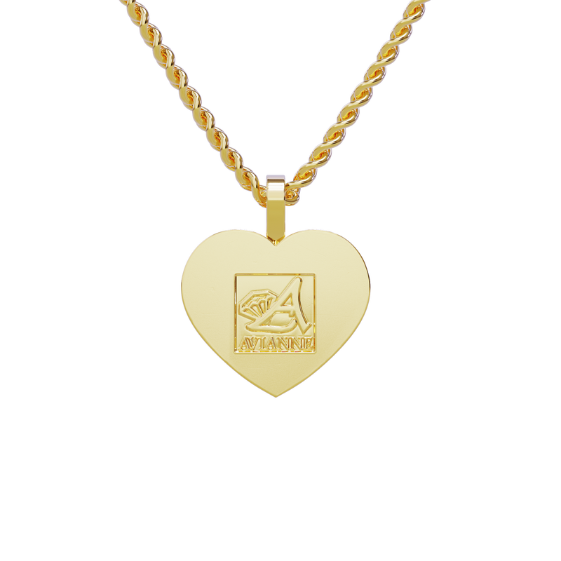 Heart Shaped Memory Charm Pendant in 14k Yellow Gold