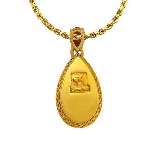 Huge Citrine Diamond Pendant in 14k Yellow Gold 57.24 Ctw