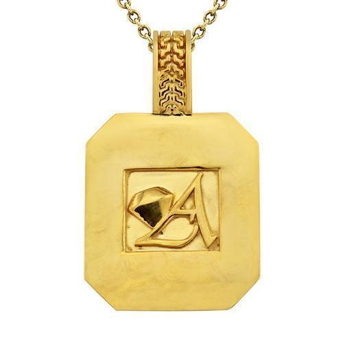 Pave Diamond Pendant in 14k Yellow Gold 3.5 Ctw