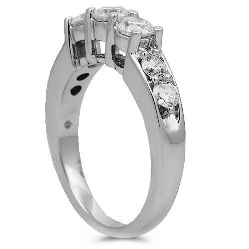 14K Solid White Gold Diamond Bridal Ring Set 3.00 Ctw