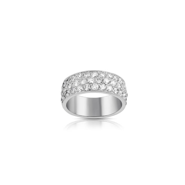 14K Solid White Gold Diamond Wedding Ring Band 2.50 Ctw