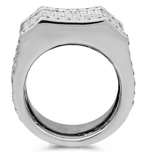 14K Solid White Gold Mens Diamond Pinky Ring 11.50 Ctw