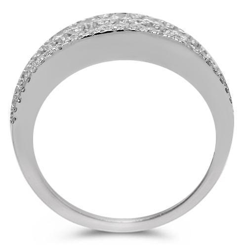 14K Solid White Gold Womens Diamond Cocktail Ring 5.38 Ctw