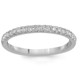 14K Solid White Gold Womens Diamond Wedding Ring Band 0.50Ctw