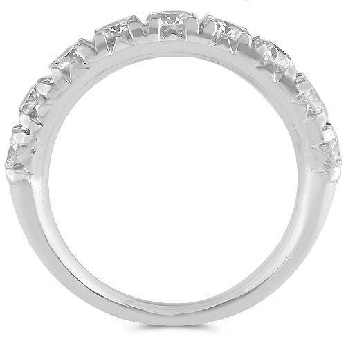 14K Solid White Gold Womens Diamond Wedding Ring Band 1.40Ctw