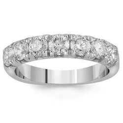 14K Solid White Gold Womens Diamond Wedding Ring Band 1.65 Ctw
