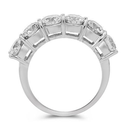 14K Solid White Gold Womens Diamond Wedding Ring Band 3.25 Ctw