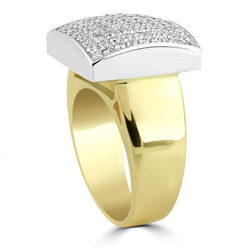 14K Solid Yellow Gold Mens Diamond Pinky Ring 1.95 Ctw