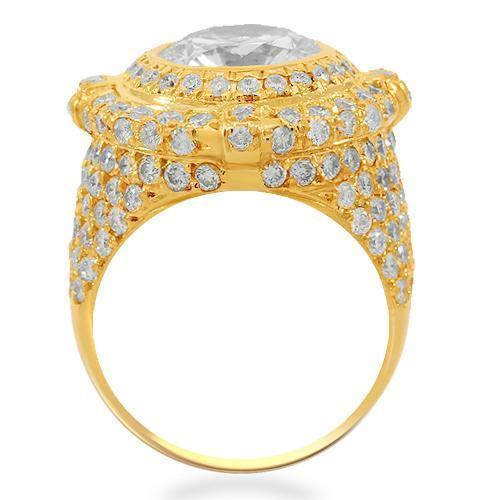 14K Solid Yellow Gold Mens Diamond Pinky Ring 5.63 Ctw