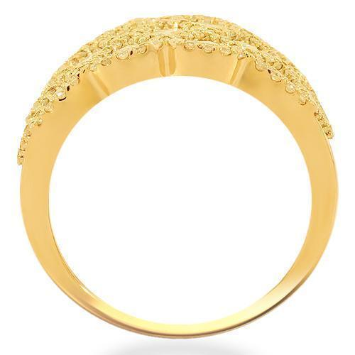 14K Solid Yellow Gold Womens Diamond Cocktail Ring 1.75 Ctw