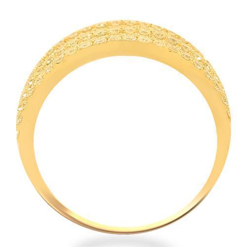 14K Solid Yellow Gold Womens Diamond Cocktail Ring 2.09 Ctw