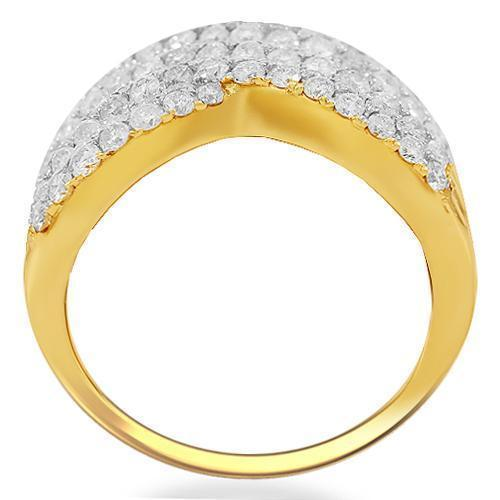 14K Solid Yellow Gold Womens Diamond Cocktail Ring 3.21 Ctw