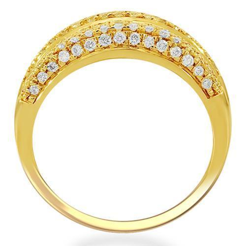 14K Solid Yellow Gold Womens Diamond Ring 0.99 Ctw