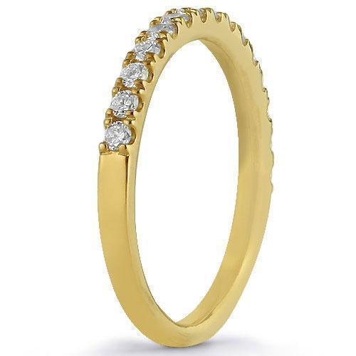 14K Solid Yellow Gold Womens Diamond Wedding Ring Band 0.50  Ctw